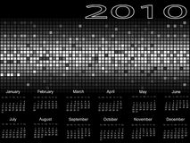 Calendar 2010. On a background with a mosaic Royalty Free Stock Photos