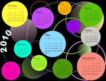 Calendar, 2010. Vector Calendar of Calendar 2010 Royalty Free Stock Image