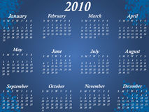 Calendar for 2010. Vector illustration of calendar for 2010 Royalty Free Stock Photo