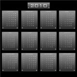 Calendar 2010. Vector illustration of the calendar 2010  in the form of metal plates Stock Photography