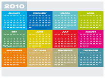 Calendar 2010. Colorful Calendar for year 2010 in  format Royalty Free Stock Photos
