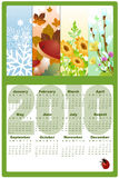 Calendar for 2010. Vector Illustration of style design Calendar for 2010 vector illustration