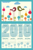 Calendar for 2010. Vector Illustration of colorful style design Calendar for 2010 Royalty Free Illustration