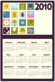 Calendar for 2010 Stock Image
