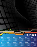 Calendar 2010. On the dark abstract background royalty free illustration