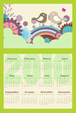 Calendar for 2010. Vector Illustration of style design Calendar for 2010 Stock Images