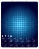 Calendar 2010. On the blue abstract background Stock Photo