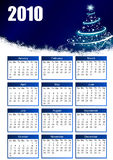 Calendar 2010. With christmas tree Royalty Free Stock Images