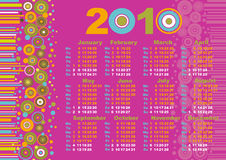 Calendar 2010. Abstract pink background, calendar 2010 Stock Photo