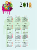 Calendar 2010. Abstract calendar for 2010 stock illustration