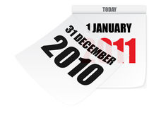 Calendar 2010 2011. Wall paper calendar for december and january Royalty Free Illustration