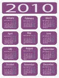 Calendar 2010. Calendar for 2010 in a vector format Stock Image