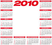 Calendar 2010 Royalty Free Stock Photos