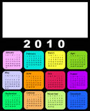 Calendar, 2010. Vector illustration of colored Calendar, 2010 Stock Image