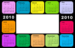 Calendar, 2010. Vector illustration of colored Calendar, 2010 Royalty Free Illustration