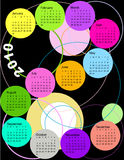 Calendar, 2010. Vector illustration of colored Calendar, 2010 Royalty Free Stock Photography