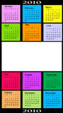 Calendar, 2010. Vector illustration of colored Calendar, 2010 Stock Photo