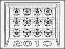 Calendar 2010 football Royalty Free Stock Image
