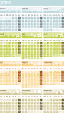 Calendar 2010 - german version. / deutsche Version Royalty Free Stock Photo
