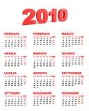 Calendar 2010 - italian Stock Images