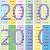 Calendar 2010 with pastel background Stock Photo