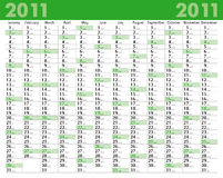 Calendar_2011 Stock Image
