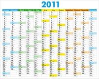 Calendar_2011 Stock Images