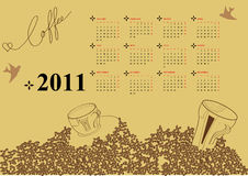 Calendar for 2011. With coffee been Stock Photo
