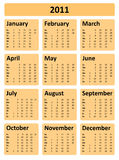 Calendar 2011 royalty free stock images
