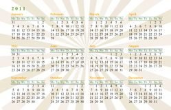 Calendar 2011 stock photos