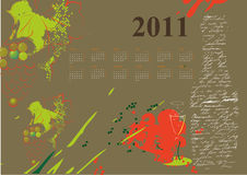 Calendar for 2011. Colorful illustration vector illustration