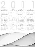 Calendar 2011. On simple and abstract background Royalty Free Stock Image