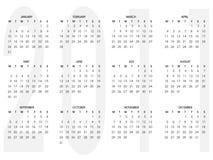 Calendar 2011. Simple Calendar 2011 isolated on white background Stock Photos