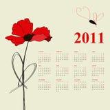 Calendar for 2011 Stock Photo