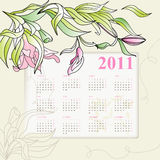 Calendar for 2011. Universal template for greeting card, web page, background stock illustration