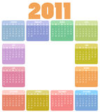 Calendar for 2011. Vector Illustration of style design Colorful Calendar for 2011 Stock Images