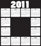 Calendar for 2011. Vector Illustration of style design black and white Calendar for 2011 Royalty Free Stock Photography