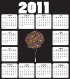 Calendar for 2011. Vector Illustration of style design Calendar for 2011 Royalty Free Stock Photo
