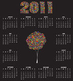 Calendar for 2011. Vector Illustration of style design Calendar for 2011 Stock Images