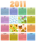 Calendar for 2011. Vector Illustration of style design Calendar for 2011 Stock Photos