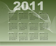 Calendar for 2011. With an abstract background Royalty Free Stock Photography