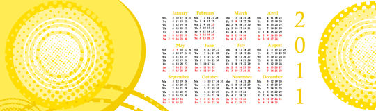 Calendar 2011 Royalty Free Stock Photo