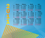 Calendar 2011. The Abstract background stock illustration