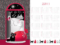 Calendar 2011. Double-sided calendar  2011,  vector illustration Stock Photo