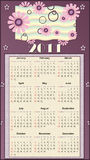 Calendar 2011. Illustration Calendar for 2011 with flower stock illustration