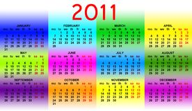 Calendar 2011 Royalty Free Stock Image