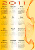 Calendar for 2011. This is a calendar for 2011 on a orange background Stock Photo