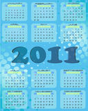 Calendar 2011. Blue calendar for 2011 year Royalty Free Stock Image