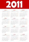 Calendar 2011. Calendario italiano per il 2011 Stock Photos