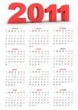 Calendar 2011. Calendario italiano per il 2011 Royalty Free Stock Photos